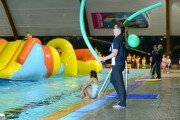 Inflatables in the Indoor 25 metre Pool